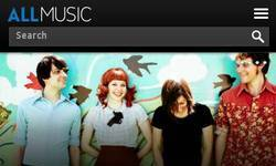 Screenshot of allmusic