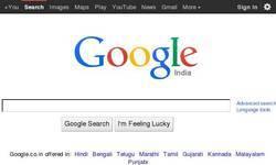 Screenshot of http://google.co.in