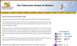 Screenshot of thetabernacleschool.com