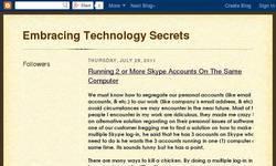 Screenshot of embracing technology