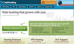 Screenshot of Web Hosting from $4.95 per month