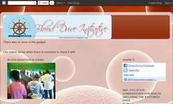 Screenshot of Blood Drive Initiative