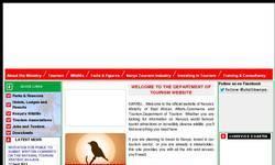 Screenshot of ministry of tourism kenya