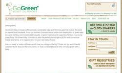 Screenshot of Go Green Baby Co.