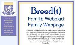 Screenshot of Breedt Family
