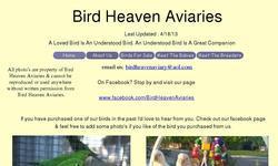 Screenshot of BIRD HEAVEN AVIARIES
