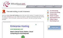 Screenshot of webhost4free