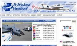 Screenshot of Air Ambulance and Air Ambulance Service