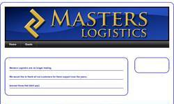 Screenshot of Masters Logistics