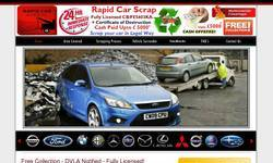 Screenshot of Scrap My Car For Cash - DVLA Notified - Fully Licensed Operator