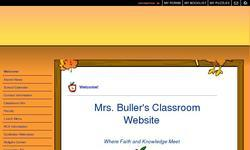 Screenshot of Mrs. Buller's Classroom Site