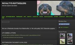 Screenshot of royaltys rottweilers