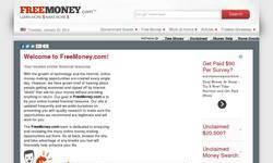 Screenshot of Free Money.com