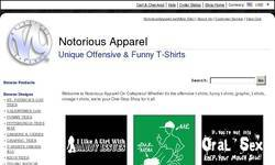 Screenshot of Notorious Apparel