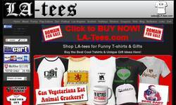 Screenshot of LA-Tees : funny t shirts, cool t-shirts, unique gifts
