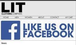 Screenshot of LIT CLOTHING COMPANY