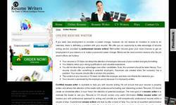 Screenshot of http://cvresumewriters.com/onlineresume.php