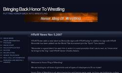 Screenshot of Honor Ring of Wrestling