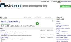 Screenshot of Moviecodec