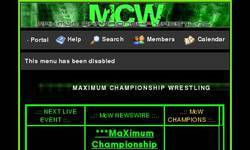 Screenshot of McW>MaXimum Championship Wrestling