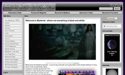 Screenshot of Mysterial - The Paranormal Community Portal