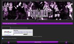Screenshot of SHIMMER Fantasy Wrestling
