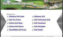 Screenshot of golf shop