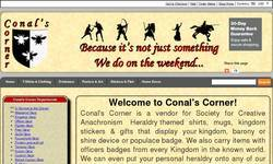 Screenshot of Conal's Corner