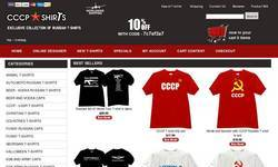 Screenshot of Russian and CCCP Funny T-shirts