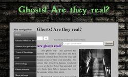 Screenshot of Are ghosts real?