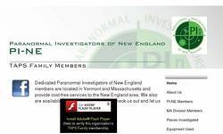 Screenshot of Paranormal Investigators of New England
