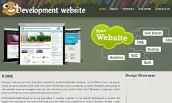 Screenshot of website development services