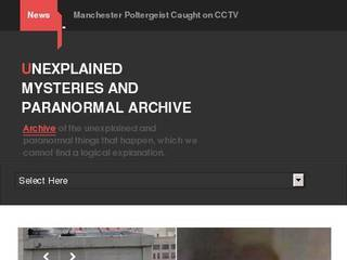 Screenshot of Unexplained Mysteries and Paranormal Archive
