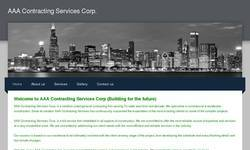 Screenshot of AAA Contracting Services Corp