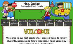 Screenshot of Mrs. Oakes' First Grade Class
