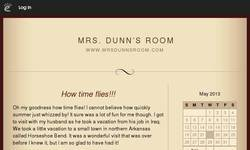Screenshot of Mrs. Dunn's Fourth Grade Blog