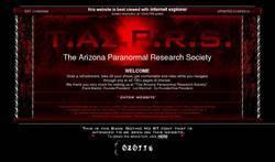 Screenshot of The Arizona Paranormal Society (TAzPS)