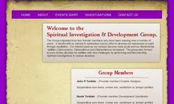 Screenshot of spiritual investigation and development group