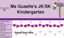 Screenshot of Ms Guselle's JK/SK Kindergarten