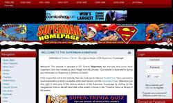 Screenshot of Superman Homepage