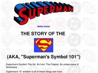 Screenshot of Superman's Symbol, Shield, Logo and It's History!