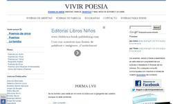Screenshot of Vivir Poesia