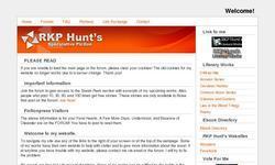 Screenshot of RKP Hunt's Literary Works