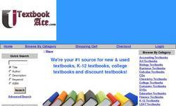 Screenshot of TextbookAce.com - Textbook Ace