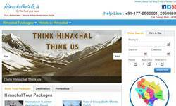 Screenshot of Himachal Hotels