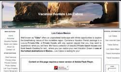 Screenshot of Los Cabos Vacation Rentals-Luxury Private Villas - Condos. Palmilla Los Cabos