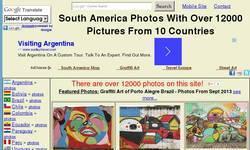 Screenshot of South American Postcard