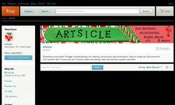 Screenshot of Artsicle on Etsy