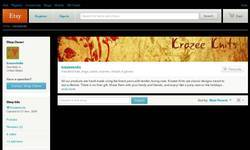 Screenshot of krazee knits at etsy