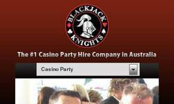 Screenshot of http://www.blackjackknights.com.au/corporate-events/christmas-party-organisers